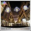 Diodo emissor de luz ao ar livre comercial colorido da decoração do Natal através da luz de rua