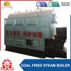 Chaudière de déplacement de charbon d'essence de grille de tube d'incendie horizontal