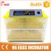 Ovos de codorniz da venda quente incubadora automática pequena de 96 (YZ-96)