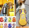 Moda perro deportes Jersey NBA Pet Tee para Grandes Animales