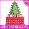 Calendário de madeira por atacado do advento do Natal 2016, calendário de madeira engraçado do advento do Natal, calendário de madeira W02A173 do advento do Natal