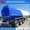 3 solo acoplado del tanque del aceite/combustible del acero de carbón del neumático del árbol 42000L para Tanzania
