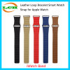 Loop de cuero pulsera de reloj elegante correa para Apple iWatch reloj Band 38mm y 42mm
