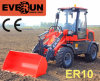 Qingdao Everun Er10 Mini Front Wheel Loader con Snow Blade