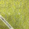 美しく黄色い花のレースファブリック