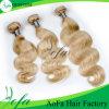 Trama por atacado do cabelo humano do cabelo de Remy do Virgin do preço de fábrica
