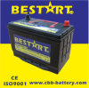 JIS Standard Rechargeable 95D31r 12V Nx120-7 Japan SMF Automobile Battery 12V80ah