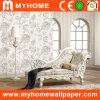 Blanco no tejido floral del papel de empapelar para la decoración de la pared