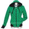 Напечатанная повелительницами куртка ватки способа с капюшоном