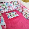 Nuevo lecho de Minky del diseño fijado para el pesebre del bebé