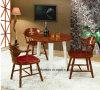 居間のための灰の木製のダイニングテーブルそして椅子