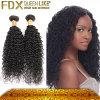 Fdxの低価格の黒カラーブラジルの人間の未加工毛のねじれた巻き毛