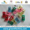 Канцелярские товар бумажного зажима цветов пластичного канцелярские товар прозрачное