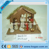 Figurine рождества смолаы OEM установленный вероисповедный