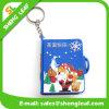 Les cadeaux de souvenir de trousseau de clés de Santa de Noël créateurs personnalisent le caoutchouc de PVC