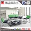 Sofà sezionale dell'ufficio di cuoio all'ingrosso con il blocco per grafici del metallo (NS-SA07)