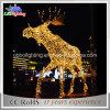 Éclairage extérieur lumineux neuf de motif de renne du géant 3D DEL