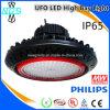 O excitador IP65 de Meanwell Waterproof a luz elevada do louro do UFO do diodo emissor de luz da Philips