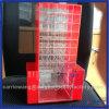 Fábrica Holder giratorio de acrílico del lápiz labial rojo