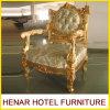 Re crema Throne Chairs di legno solido