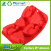 Moulages rouges de gâteau de Sillicone d'arbre et de forme du chapeau de Noël