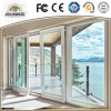 高品質の工場グリルの内部が付いている安い価格のガラス繊維プラスチックUPVCのプロフィールフレームの引き戸