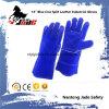 кожа голубого Cowhide 14 Split сваривая промышленные перчатки работы безопасности руки