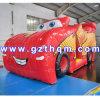 O projeto do salto inflável do carro vermelho novo/castelo de salto inflável