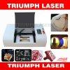 Petite machine de découpage acrylique de gravure de laser en bois pour le mini triomphe de coupeur du laser 4040 du plastique 3020