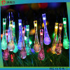 Stunning Crystal Waterdrops Solar LED String Lights Decoração Light