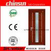 Hölzerne Tür-Muster mit Glasentwürfen