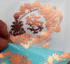 Стикеры стены Selft изготовленный на заказ золота Rose никеля логоса металла слипчивые самонаводят декор
