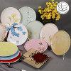 Piatto di pranzo di ceramica del commercio all'ingrosso di prezzi più bassi, piatto di Cecolorful Ramic con stampa