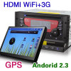Almofada WiFi 3G do carro do Android 2.3 DVD GPS de Erisin Es777A