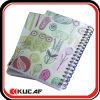 プラスチックカバー螺線形のノート