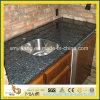 Cocina de granito prefabricada de granito azul