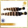 Venta caliente la extensión del pelo de la trama T Tono de color de la onda profunda 8A grado 100% de la Virgen del pelo humano