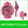 Reloj redondo del cuarzo del dial de la rotación de la nueva manera (NFSP047)