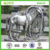 Sculpture en cheval d'argent de résine de Tableau de Hotsale (NF86119)