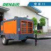 Type pilotant refroidi par air compresseur de moteur électrique d'air rotatoire mobile de vis