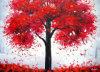 赤い木の絵画キャンバス(LH-384000)
