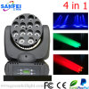최신 Sale 12PCS*10W 4in1 LED Effect Moving Head Beam Lights