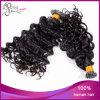 Cabelo brasileiro profundamente Curly eu derrubo a extensão do cabelo da queratina
