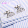 VAGULA Fashion New Style Protractor Wedding Painting Cufflinks para Men