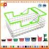 Panier de pique-nique d'achats de supermarché de zinc ou de chrome en métal de mode (Zhb125)