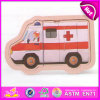 2015 enigmas inteligentes brinquedo de madeira dos miúdos, brinquedo de madeira dos enigmas das crianças do projeto da ambulância, promoção 3D de madeira confundem o brinquedo W14c176