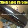 Hoja brillante negra del espejo del cromo de Strechable