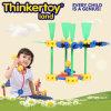Brinquedo plástico da instrução de DIY para blocos de apartamentos do plástico da criança DIY