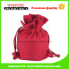 La promoción del algodón rojo de la tela bolsos de lazo para almacenamiento