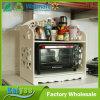 2 gradas ahuecan el estante tallado del almacenaje de la cocina del estante del horno microondas